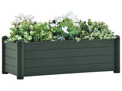 vidaXL Podwyższona donica, PP, zielona, 100x43x35 cm