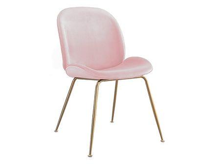 Krzesło ze złotymi nóżkami S-0728 Różowy #39