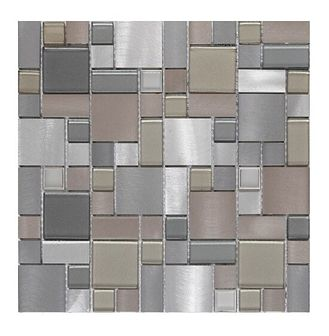 Mozaika Tourino GoodHome 30 x 30 cm silver
