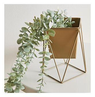 Sinsay - Doniczka na stojaku 11x11 - Złoty
