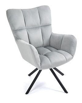 Fotel tapicerowany obrotowy SC-8053 jasnoszary