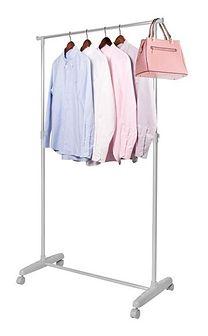 Stojak na ubrania 95-165cm wieszak na kółkach szary