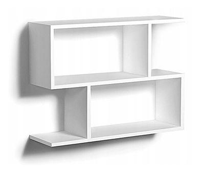 Nowoczesna biała półka wisząca - Artiso
