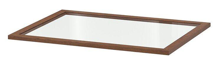 IKEA KOMPLEMENT Półka szklana, imitacja okleiny bejc na brąz, 75x58 cm