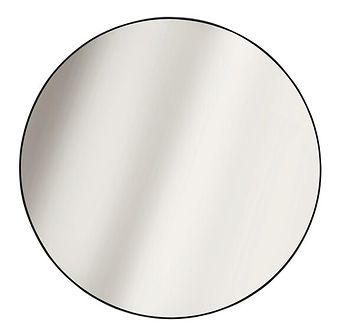 SELSEY Lustro ścienne okrągłe Shaunel średnica 55 cm czarne