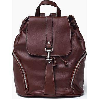 Skóra naturalna - brązowy plecak SARA