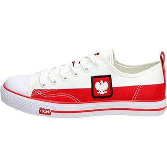 Biało czerwone trampki KIBICA MUNDIAL LH18-24