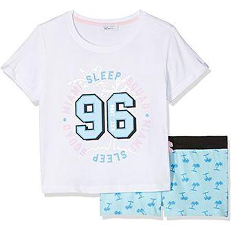 New Look dziewcząt dwuczęściowy kij pidżama Miami Palm Short -