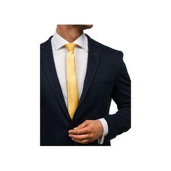 Elegancki krawat męski żółty Denley K001