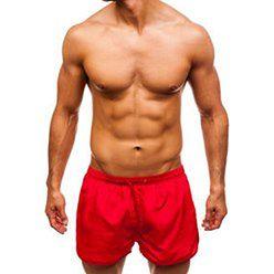 Krótkie spodenki kąpielowe męskie czerwone Denley Y779