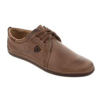 Skórzane buty męskie 343 brązowe
