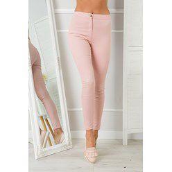 Gładkie spodnie Grace-Jasnoróżowe
