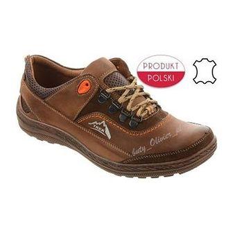Męskie buty trekkingowe 268 brązowe