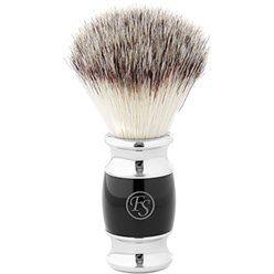 Czarny pędzel do golenia Modena o syntetycznym włosiu
