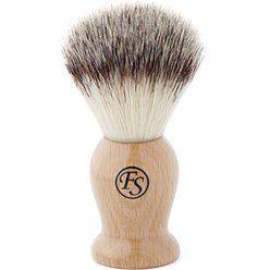 Kremowy pędzel do golenia o syntetycznym włosiu