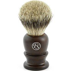 Klasyczny hebanowy pędzel do golenia o syntetycznym włosiu