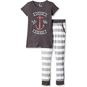 Lina Różowy dziewczyna Sportswear dzięki swojemu stylowi zestaw ef. matelot. PLG -