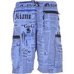 Galliano Męska Odzież Kąpielowa Na Wyprzedaży, niebieski (Bluette), Poliester, 2019, M S XL