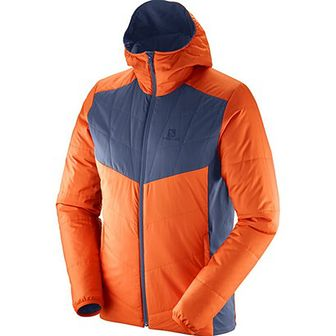 Kurtka trekkingowa dwustronna męska Drifter Mid Hoodie Salomon (pomarańczowo-szara)