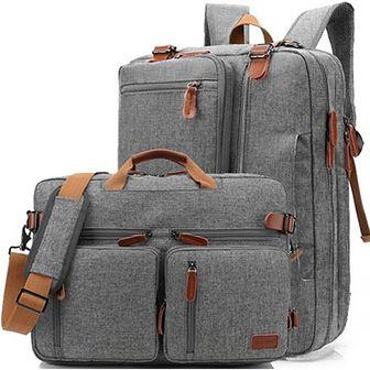 "Torba/Plecak Coolbell na laptopa 17,3"" CB-5005 Kolor: szaro-brązowy"