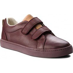 Sneakersy CLARKS - City Oasis 261370456 Burgundy Leather