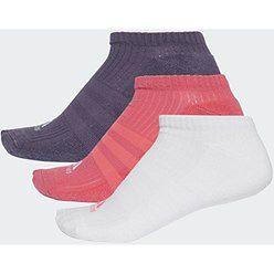Skarpety 3S Performance No Show HC 3 pary Adidas (białe, fioletowe, koralowe)
