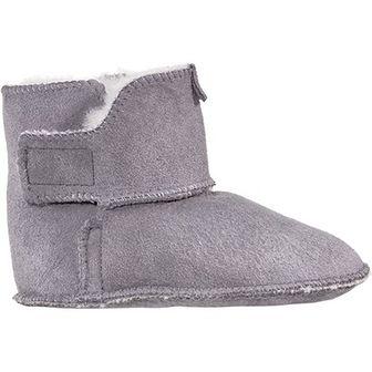 Buty zimowe dziecięce Vanuba skórzane na rzepy emu