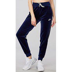 Spodnie damskie Nike bez wzorów w sportowym stylu