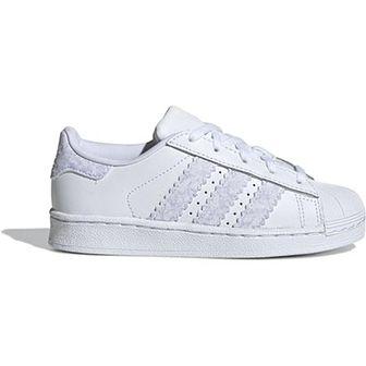 Trampki dziecięce Adidas ze skóry wiosenne sznurowane