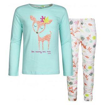 Wielokolorowa piżama dziecięce Endo z nadrukami