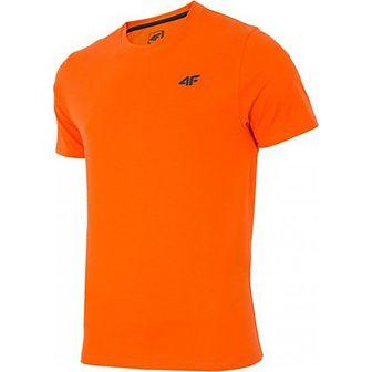 Koszulka sportowa pomarańczowy 4F bez wzorów