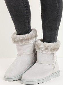 Jasnoszare śniegowce Brocade Fur