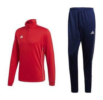Dres męski Core 18 Training Top Adidas (czerwono-granatowy)