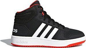 Buty młodzieżowe Hoops Mid 2.0 Adidas (core black/cloud white/hi-res red)