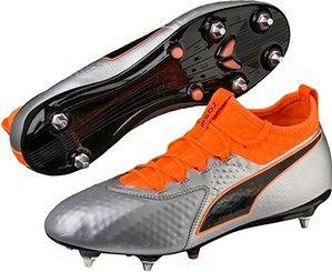 Buty piłkarskie korki One 2 Leather SG Puma (silver/orange)