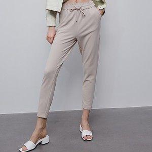 Reserved - Spodnie z elastyczną talią - Beżowy