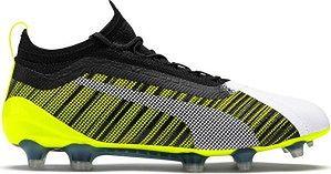 Buty piłkarskie korki One 5.1 evoKNIT FG/AG Puma (yellow/black/white)