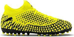 Buty piłkarskie korki 4.4 MG Junior Puma (yellow/black)