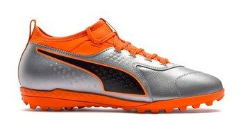 Buty piłkarskie turfy One 3 Leather TT Puma (silver/orange/black)