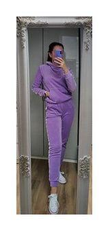 Spodnie welurowe Lilac