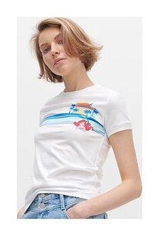 Reserved - T-shirt z bawełny organicznej - Biały