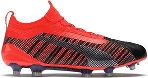 Buty piłkarskie korki One 5.1 evoKNIT FG/AG Puma (red/black)