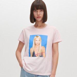 Reserved - T-shirt Paris Hilton - Różowy