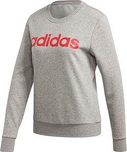 Bluza damska Essentials Linear Sweat Adidas (szarość/róż)