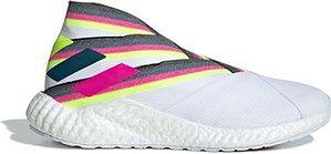 Buty piłkarskie Nemeziz 19+ TR Boost Adidas (cloud white/solar yellow/shock pink)