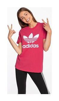 Koszulka adidas TREFOIL TEE GD2312 POWER PINK / WHITE