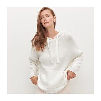 Reserved - Sweter z kapturem - Kremowy