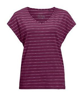 Damska koszulka TRAVEL STRIPED T wild berry stripes