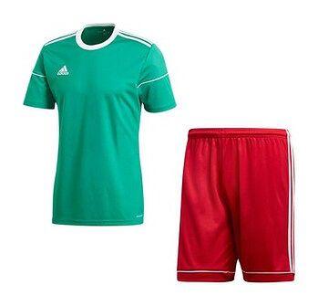 Komplet piłkarski Squadra 17 Adidas (zielono-czerwony)