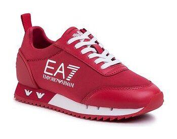 EA7 Emporio Armani Sneakersy XSX004 XOT08 M488 Czerwony
